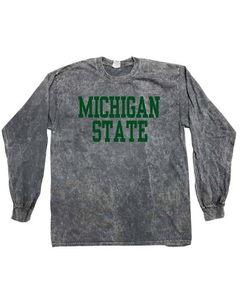 MICHIGAN STATE GRAY TIE DYE LONG SLEEVE