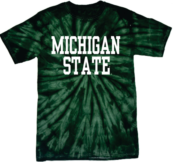 MICHIGAN STATE GREEN TIE DYE T-SHIRT
