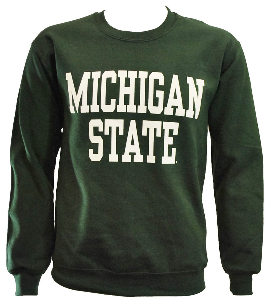 MICHIGAN STATE FOREST GREEN CREWNECK SWEATSHIRT