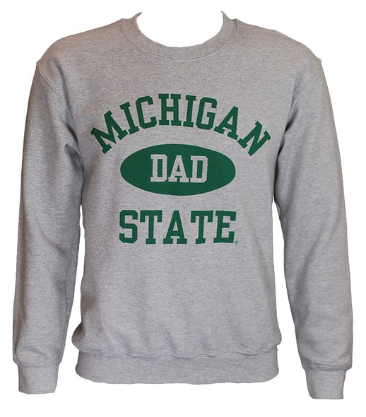 MICHIGAN STATE GREY DAD CREWNECK