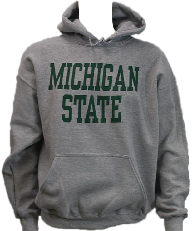 Michigan State DryBlend Heavy Weight Pullover Hooded Sweatshirt (Classic Colors)- Block