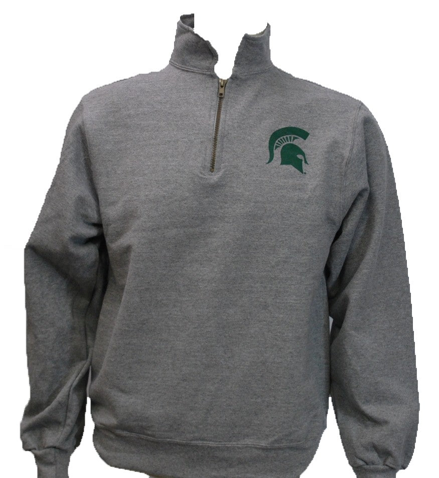 MICHIGAN STATE GREY QUARTER ZIP