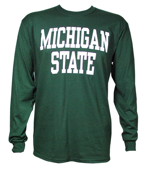 Michigan State Long Sleeve T-Shirt- Block