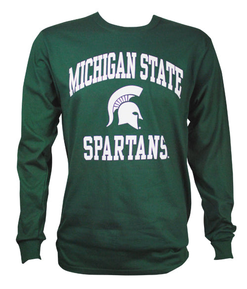 Michigan State Long Sleeve T-Shirt- Sparty