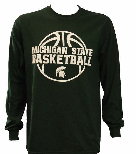 MICHIGAN STATE BASKETBALL BLACK LONGSLEEVE