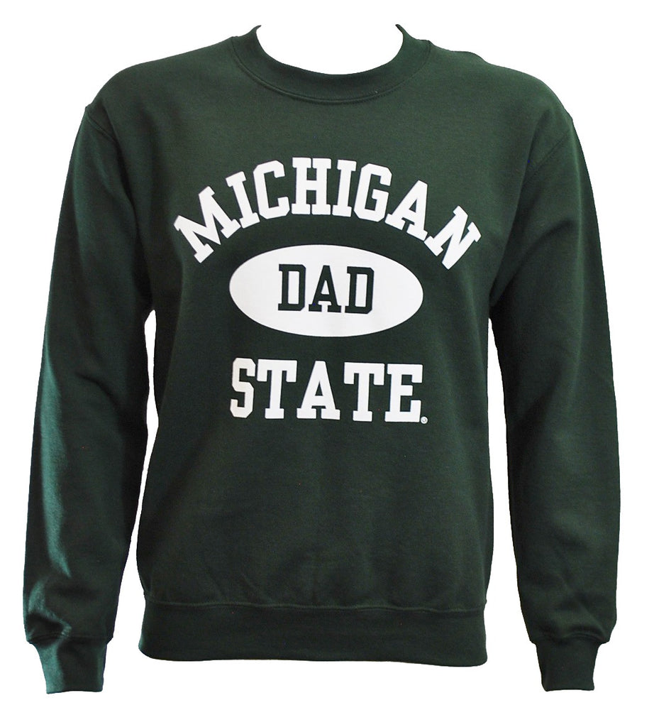 MICHIGAN STATE FOREST GREEN DAD CREWNECK
