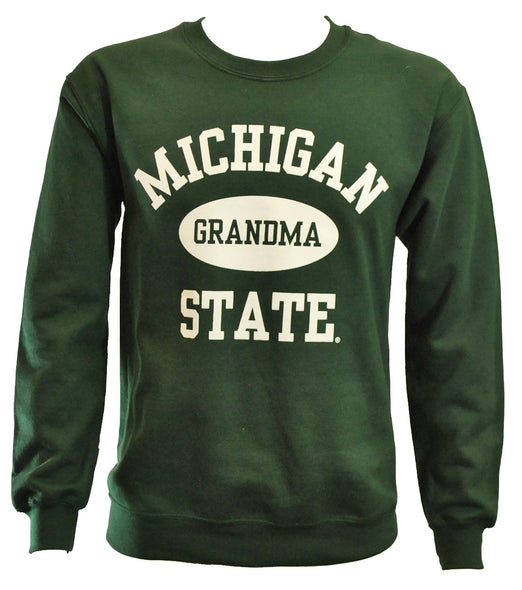 MICHIGAN STATE FOREST GREEN GRANDMA CREWNECK