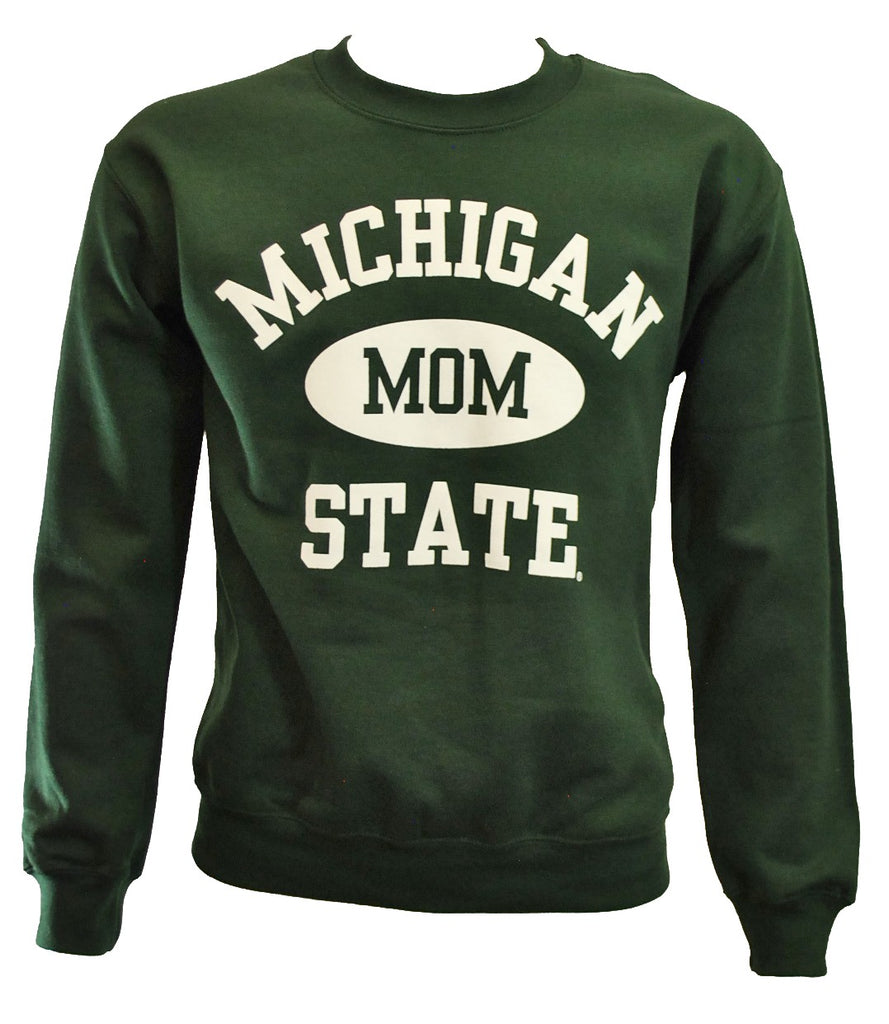 MICHIGAN STATE FOREST GREEN MOM CREWNECK