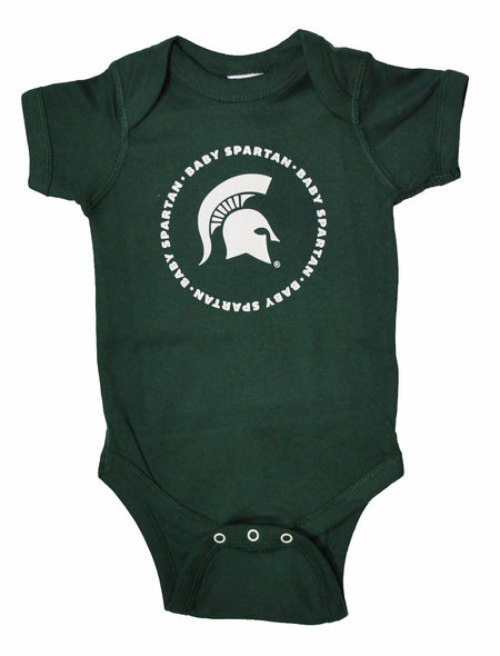 Michigan State Infant Onesie Baby Spartan