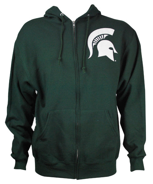 Michigan State Hooded Full Zip Sweatshirt - Forest