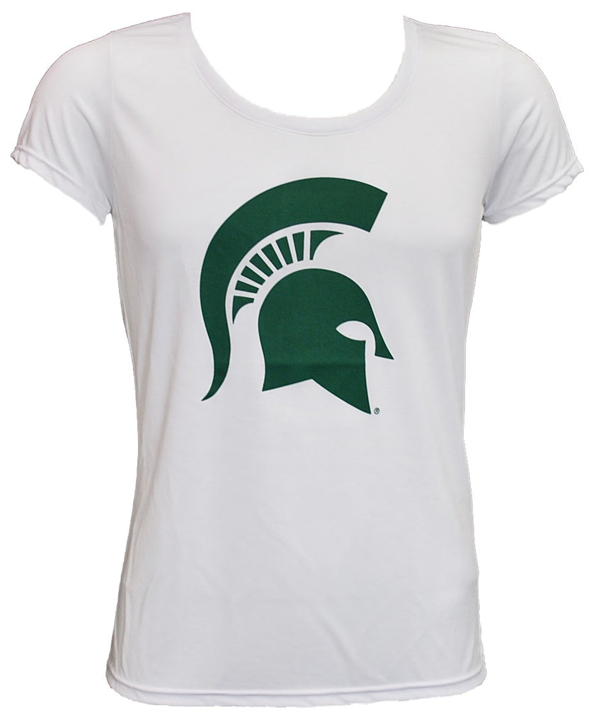 Michigan State Ladies Performance T-Shirt- Sparty Head