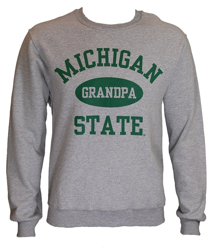 MICHIGAN STATE GREY GRANDPA CREWNECK