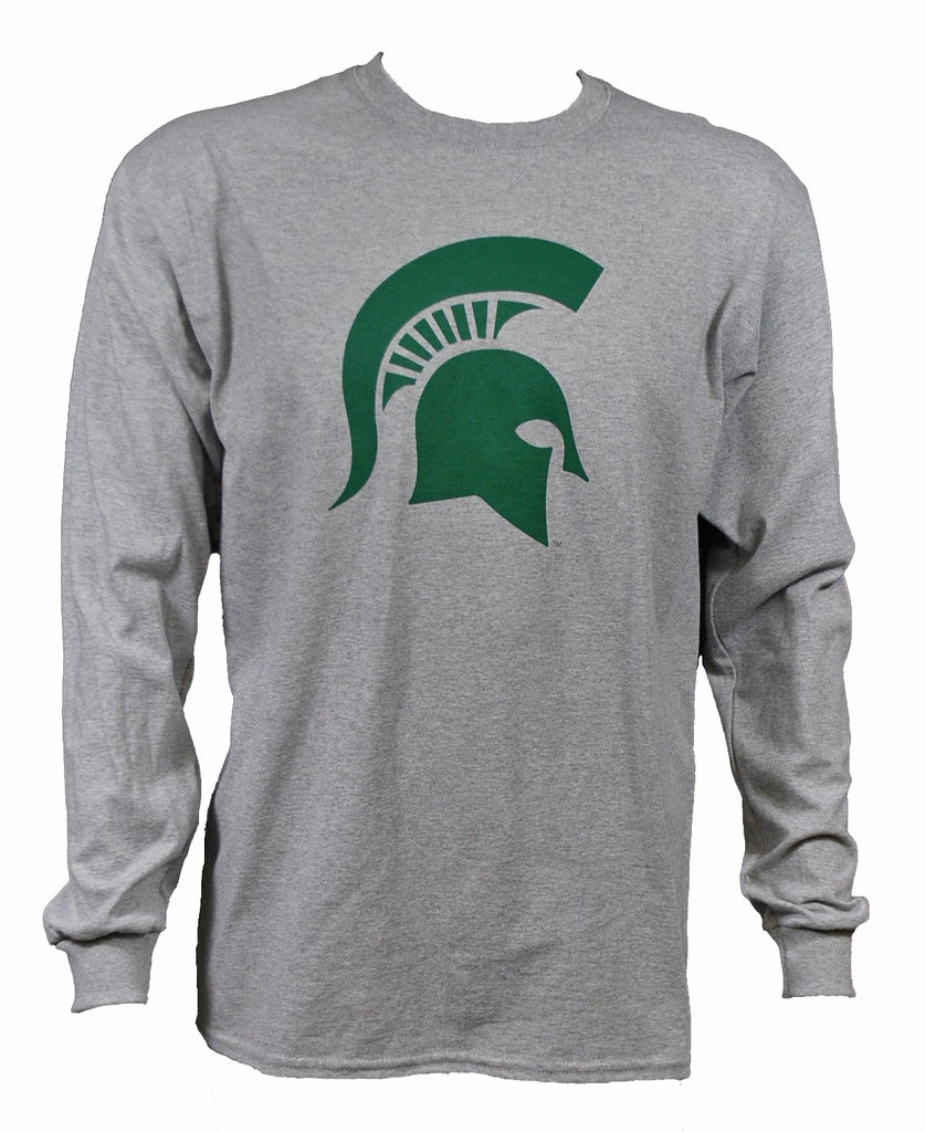 MSU Sparty Long Sleeve T-Shirt w/ Sleeve Print