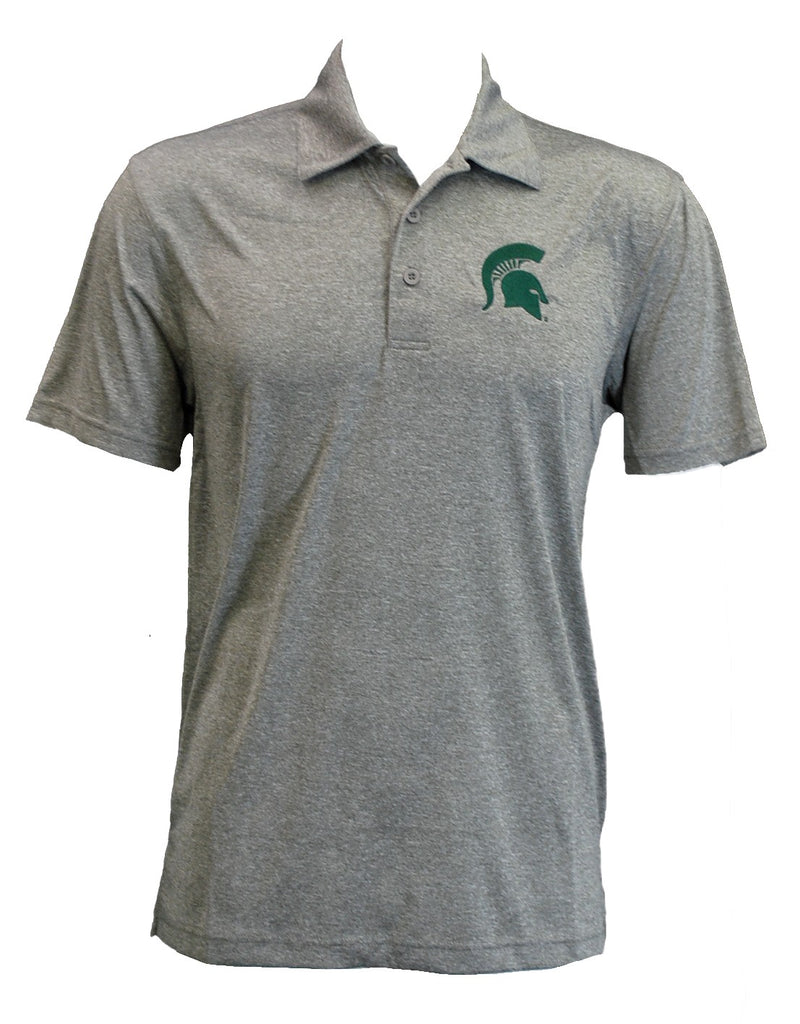 Michigan State Heather Polo - Embroidered