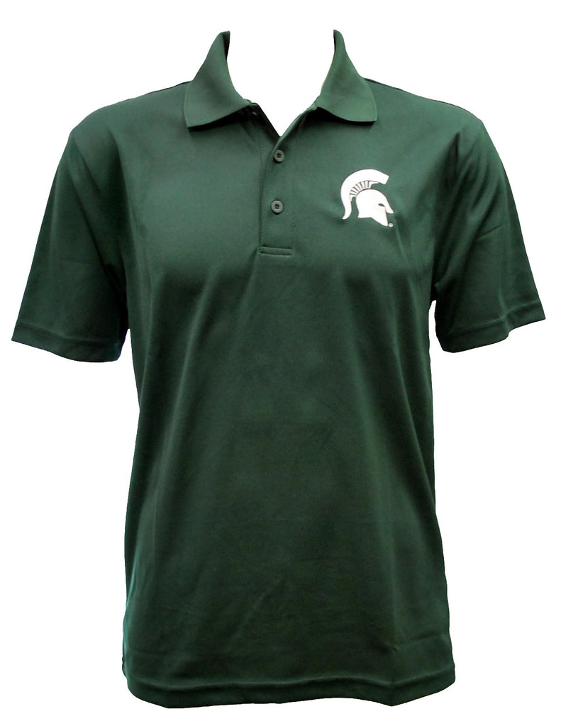 Michigan State Men's Embroidered RacerMesh Polo