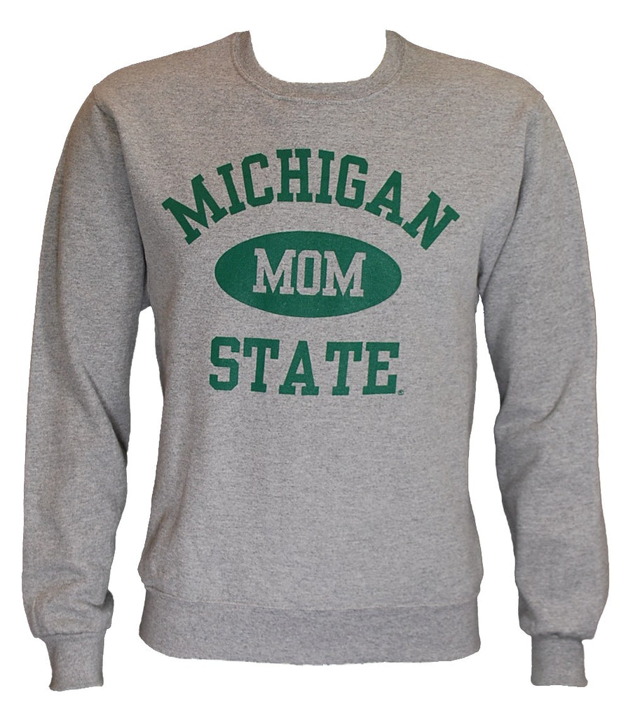 MICHIGAN STATE GREY MOM CREWNECK