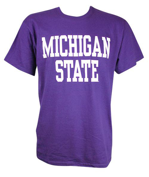 Michigan State T-Shirt - Block Design- Many Colors to Choose From