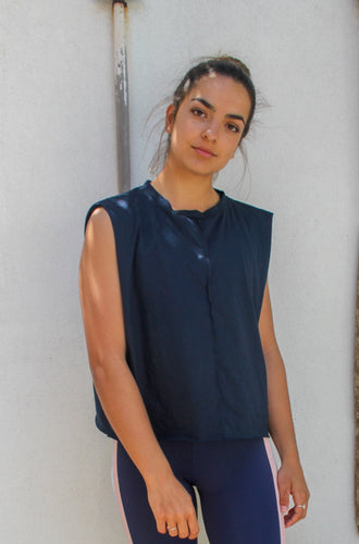 Start Up Tank Navy | Harris and Hunter Perth Activewear