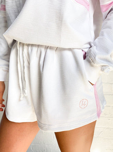 Doubles Shorts White | Harris and Hunter