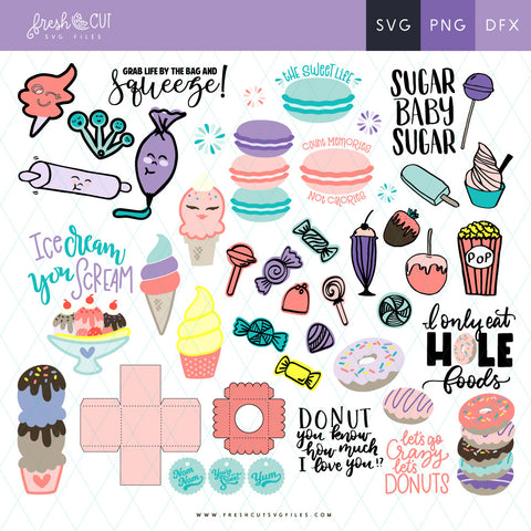 60+ Sweet Shoppe SVG Files