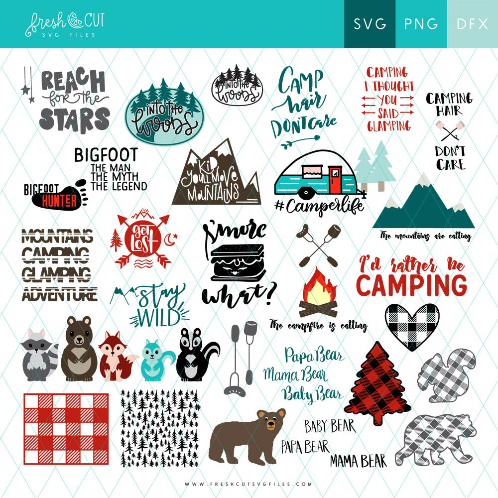 Over 50 Camping SVG Files