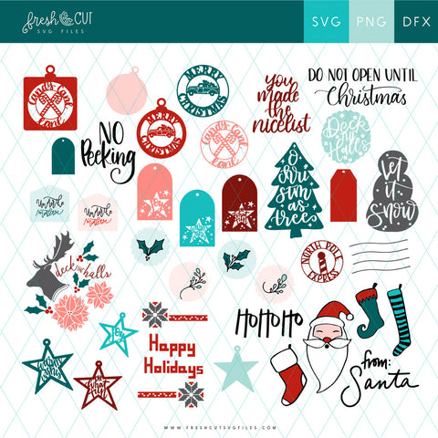 Holiday Cards and Tags SVG Files