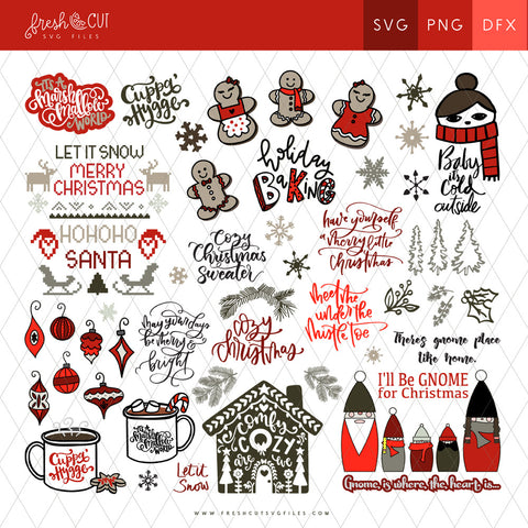 60+ Cozy Christmas SVG Files