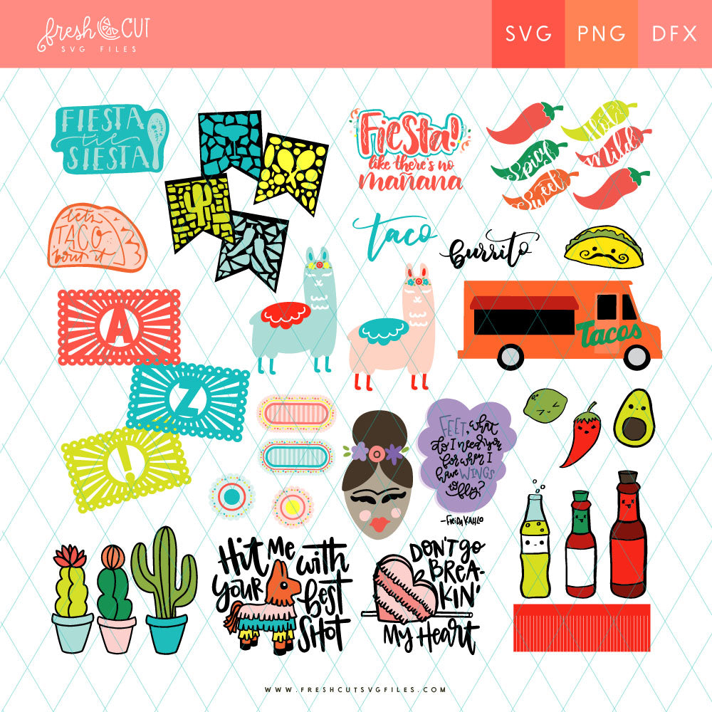 Fiesta SVG Files Bundle