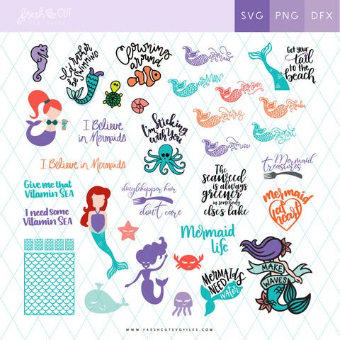 Over 50 Marvelous Mermaid SVG Files