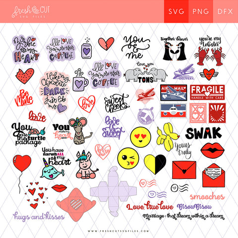 60+ Love Notes SVG Files