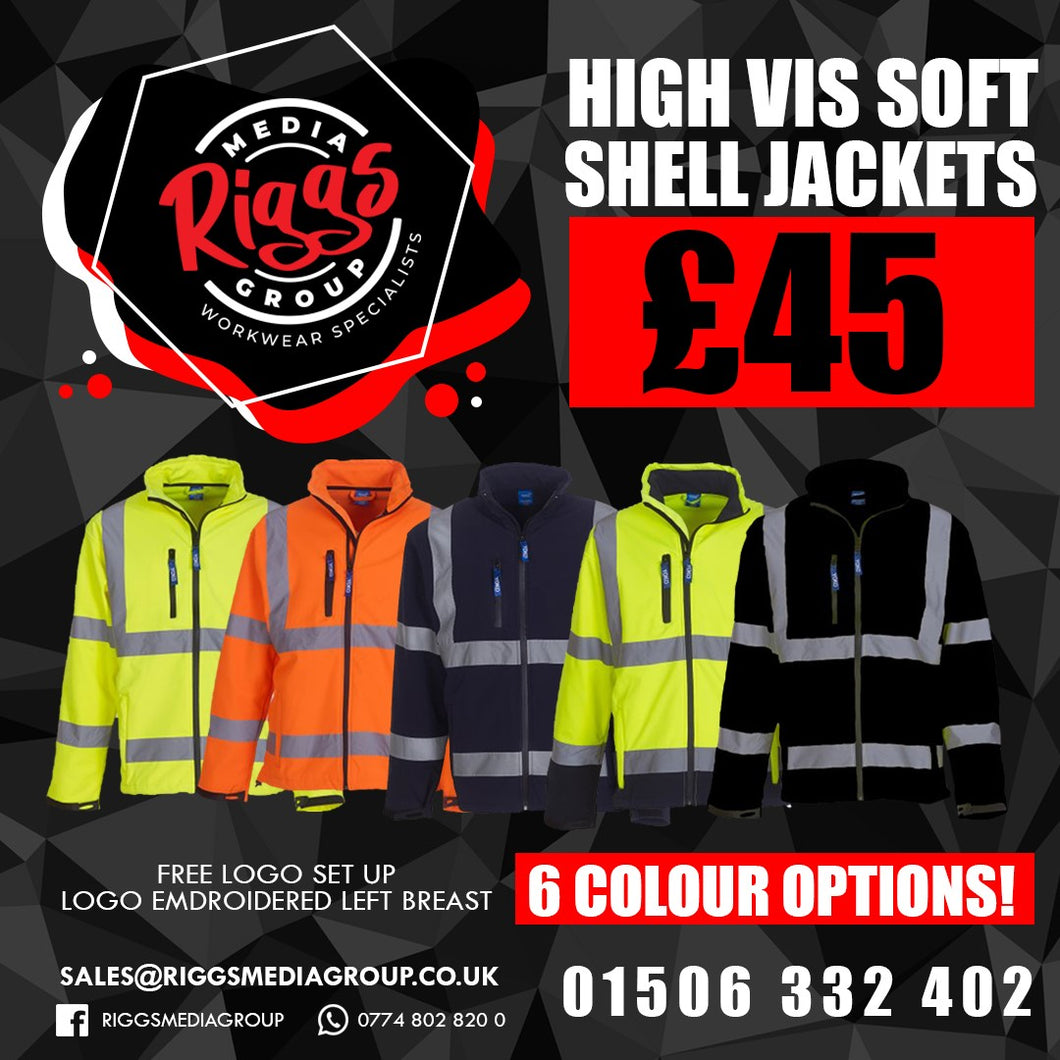 High vis Soft Shell Jacket £45