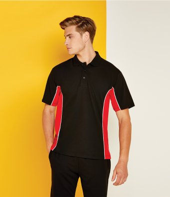 K475 Gamegear Track Poly/Cotton Piqué Contrast Polo Shirt