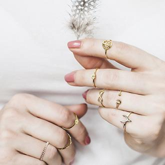 Midi and Delicate Ring Size