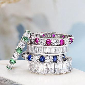 Stacking and Eternity Ring Size