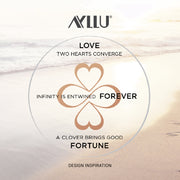 Ayllu Love Luck Unity Heart Infinity Clover Pendant Necklace Silk Cord
