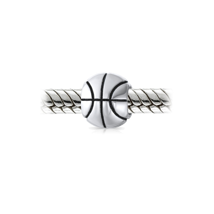Basketball Sports Athlete Coach Charm Bead 925 Sterling Silver