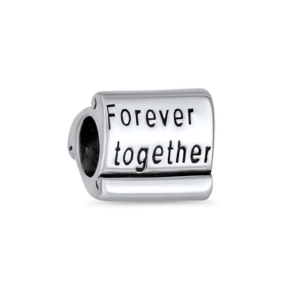 Love Family Couples Forever Together Charm Bead 925 Sterling Silver