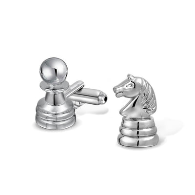 Chess Player Master Knight Cufflinks Stainless Steel