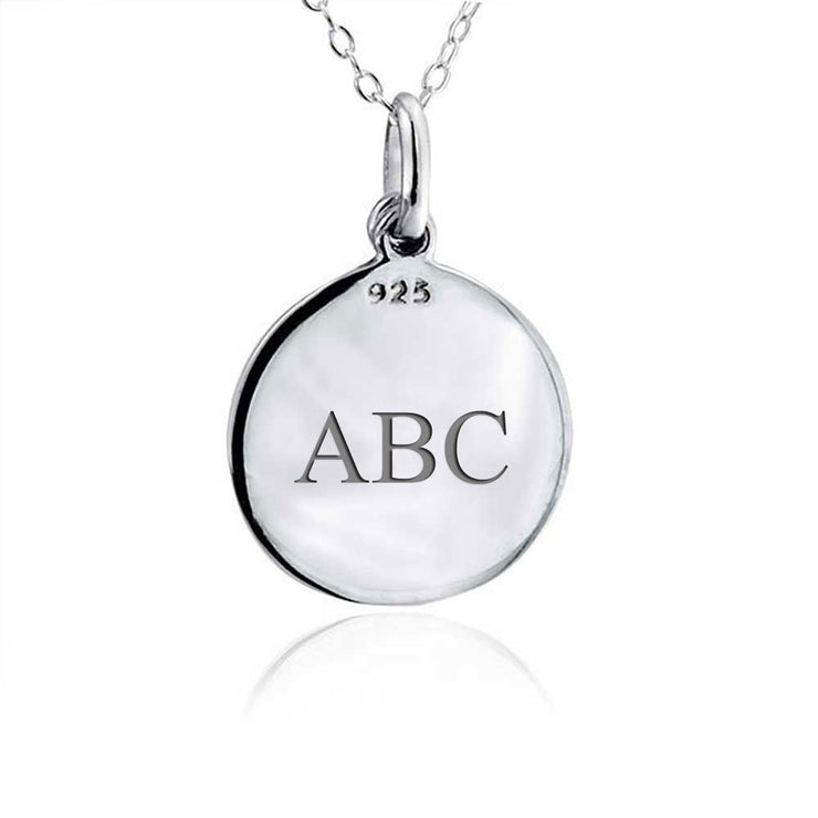 Eternal Circle Cross I Am Always With You Word Quote Pendant Round