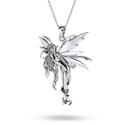 Firefly Fairies Pixie Fairy Angel Necklace Pendant Sterling Silver