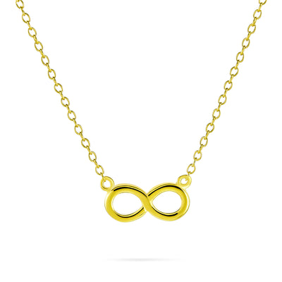 Infinity Pendant Figure Eight Gold Plated Sterling Silver Necklace