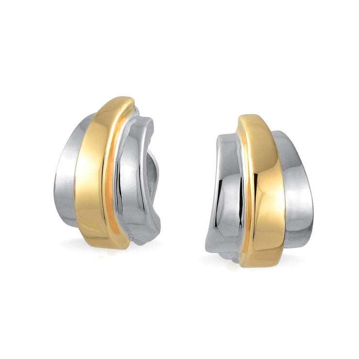 Two Tone Silver And Gold Plated