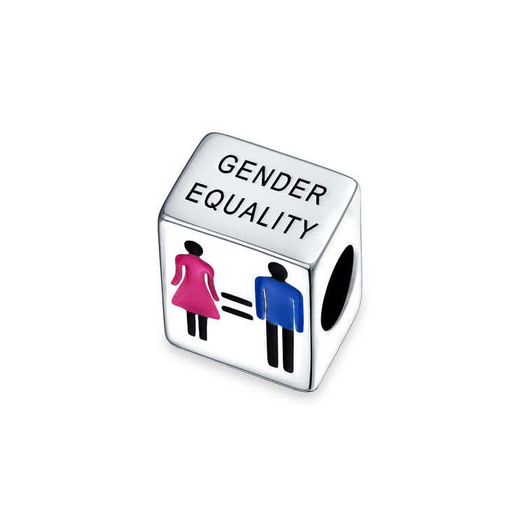 Me Too Gender Equality Rights Bead Charm Silver