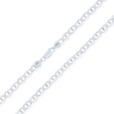 Solid Mariner Anchor Chain 200 Gauge Thick Necklace Sterling Silver