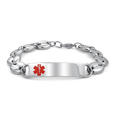Medical Doctors Alert ID Bracelet Mariner Chain Stainless Steel