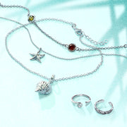 Nautical Starfish Beach Charm Anklet Ankle Bracelet Sterling Silver