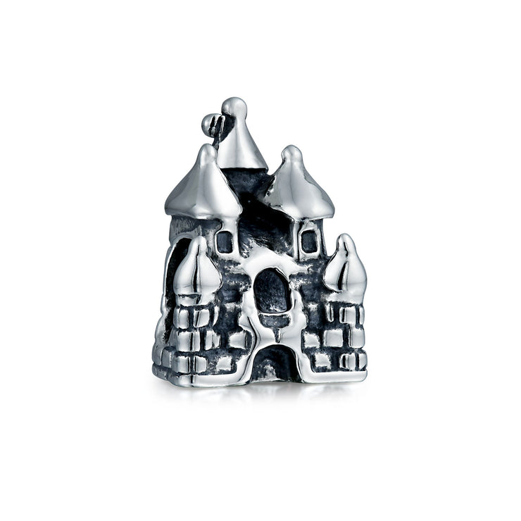 Fairytale Princess Castle Charm Bead 925 Sterling Silver
