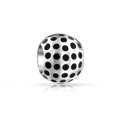 Golfer Sport Golf Ball Bead Charm 925 Sterling Silver