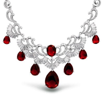 Ruby Swirl Necklace