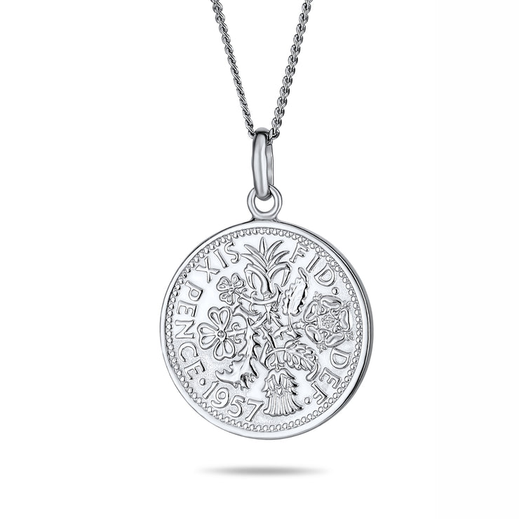 Circle Medallion Pendant 1957 Special Queen Elizabeth Coin Necklace